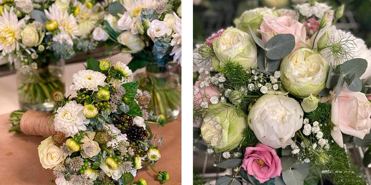 Brudebuketter fra Masielas Blomster