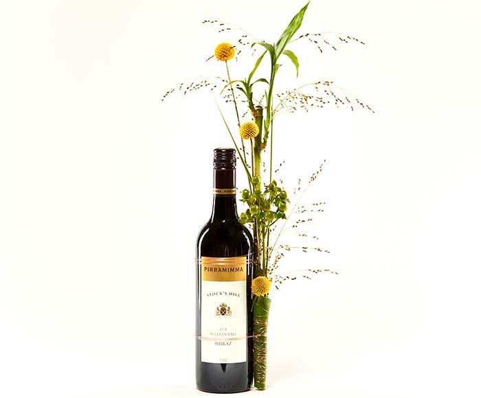 Rødvin, kreativt pyntet
