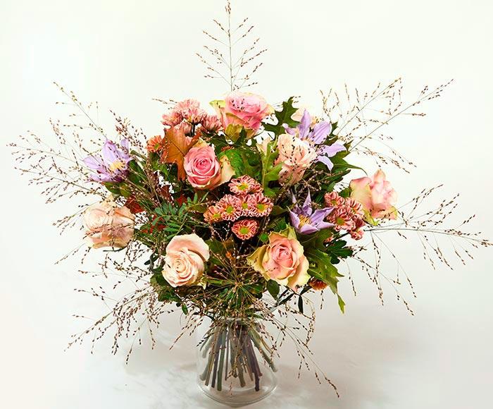Image of   Blomster udbringning - Glad efterårsbuket