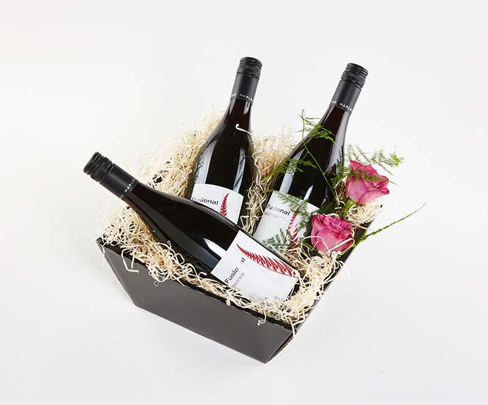 Rødvin i gavekasse