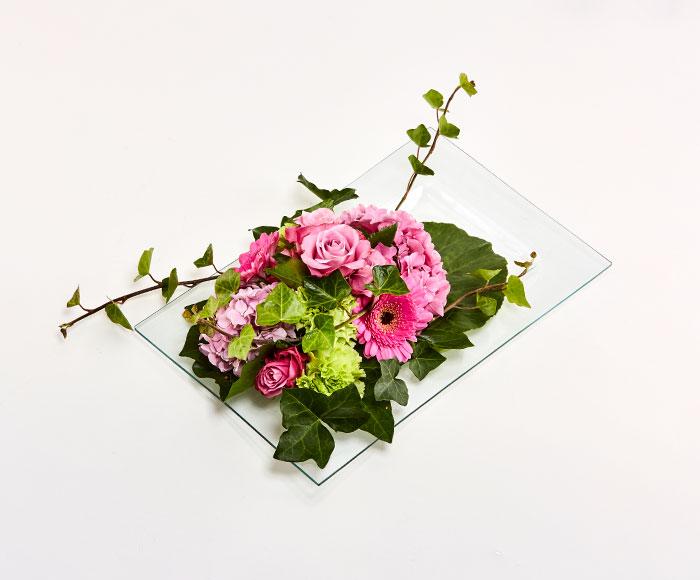 Dekoration i lyserød og grøn