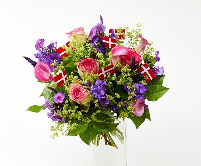 Image of   Farverig fødselsdagsbuket