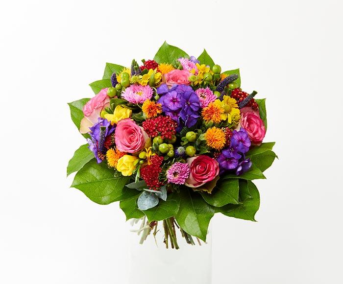 Farverigt blomstermix