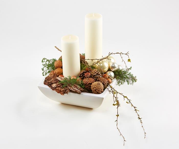 Juledekoration med naturmaterialer