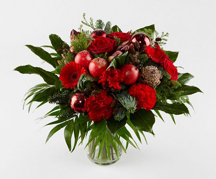 Klassisk rød julebuket