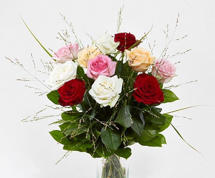 Image of   Blandede roser