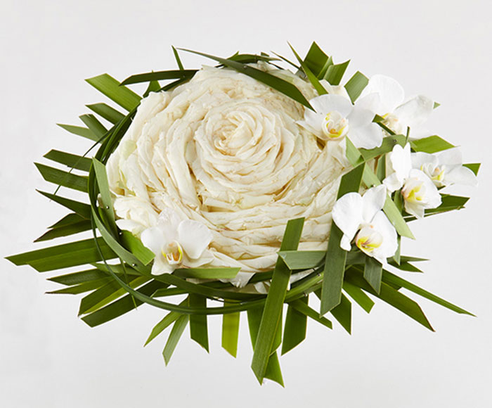 Syet rose i hvid