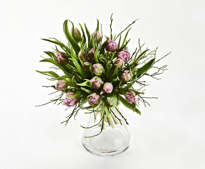 Frisk buket tulipaner