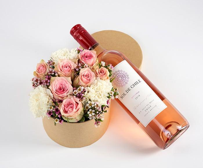 Blomsteræske med rosé