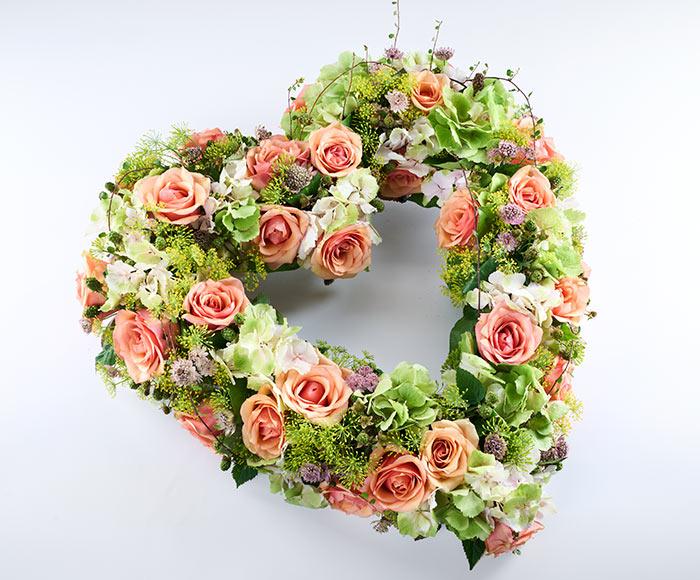 Åbent blomsterhjerte, floristens valg