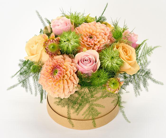 Georginer i æske, floristens valg