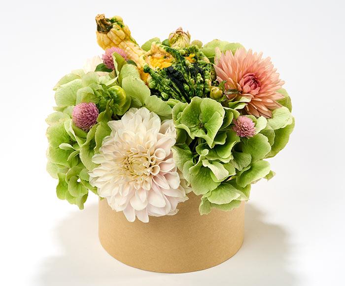 Blomsteræske med græskar