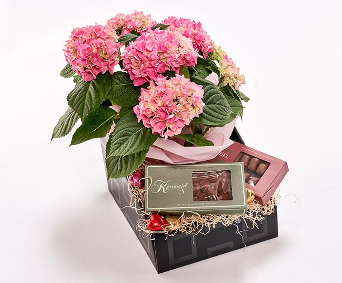 Blomstrende mors dag gavekasse